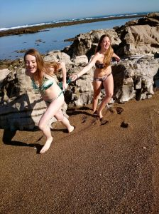 crazy girls swim