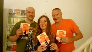 Back in London Clapham Books reading with Ray Gange and Chris Salewicz