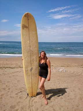 Posing before I paddle out