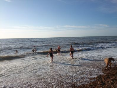 Last swim of the year= Christmas Day Brighton