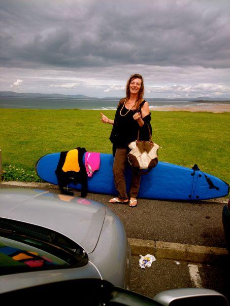 Borrowed a foamy in Donegal