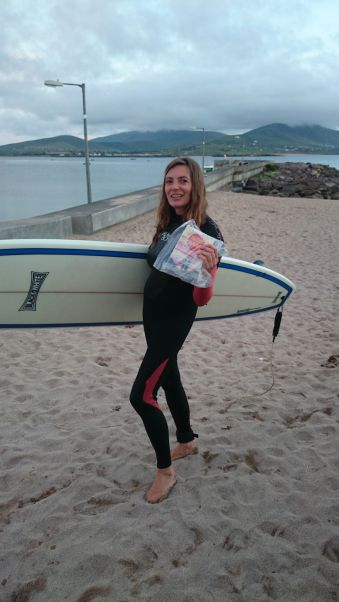 And finally the book comes back thome to Ballydavid beach where it all began
