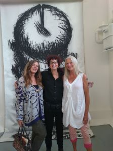 With awesome NY feminist artist Judith Bernstein and Jennifer Binnie at Studio Voltaire